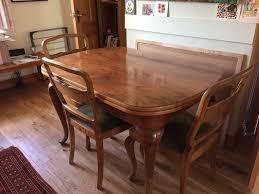 quality unique austrian vintage art deco dining table 6 chairs