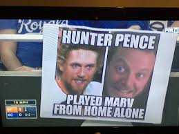 Hunter Pence Memes - kansas city royals fans continue the hunter pence meme with home
