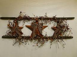 country star decorations home country ladder decor star ladder wall decor country primitive