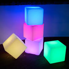 led cubes colour changing 40cm led cube stool available at this is it
