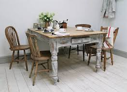 Distressed Wood Kitchen Table Country Round Dining Room Tables - Distressed kitchen table