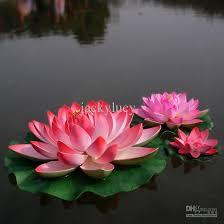 Flowers For Home Decor Online Cheap 29 Cm Diameter Big Size Artificial Simulation Lotus