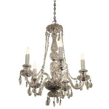 Czech Crystal Chandeliers 1940s Restored Waterford Five Arm Chandelier With Czech Crystals
