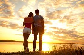 sunset alone wallpapers romantic and handsome boy couple alone sunset hd