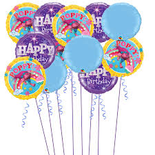 inflated helium balloons delivered trolls inflated helium balloons party package balloons co uk