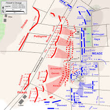 Gettysburg Pennsylvania Map by Hal Jespersen U0027s Map Of Pickett U0027s Charge Civil War Battle Maps