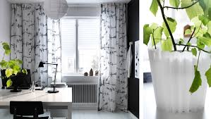 Black And White Striped Curtains Ikea Ikea Patterned Curtains Homesfeed