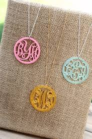 Monogrammed Necklace Personalized Acrylic Monogram Necklace 2712 Designs