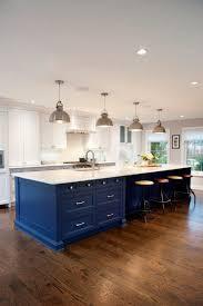 birch wood classic blue glass panel door kitchen island with