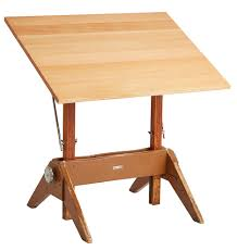 Mayline Oak Drafting Table Modern Drafting Table W Oak Trestle Base By Mayline Rejuvenation