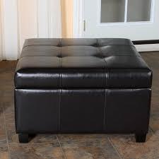 Ottoman Black Leather Amazing Black Storage Ottoman Ruston Black Leather Storage Ottoman