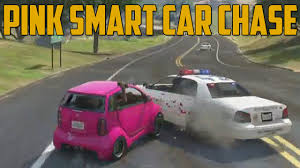 smart car pink pink smart car chase grand theft auto v youtube
