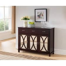 espresso wood contemporary sideboard buffet server console table