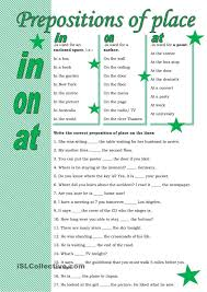 83 best preposition exercises images on pinterest exercises