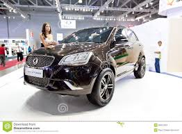 jeep car black black jeep car ssangyong action editorial stock image image