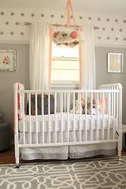 peach and gray nursery reveal nursery babies and grey white nursery