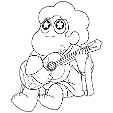 steven universe coloring pages opal bow coloring pages