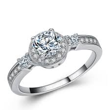 sterling diamond rings images 2018 latest ring designs for girls 925 sterling silver with clear jpg