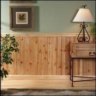 painting wood paneling half wall for the home