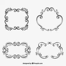 sketchy ornamental frames free vectors ui