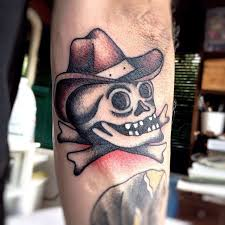 fabulous cowboy skull tattoo design in 2017 real photo pictures
