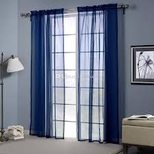 blue color sheer curtains doris cloth high thread blackout window
