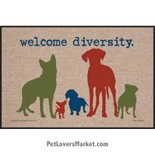 funny welcome funny doormats dog placemats welcome diversity