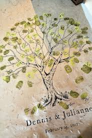 91 best thumbprint projects images on pinterest wedding trees