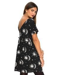 motel dresses buy motel tiara babydoll dress in sun moon print at motel