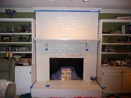 remodelaholic faux painted brick over white fireplace