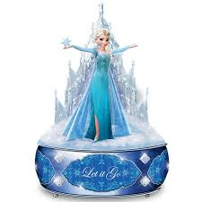amazon com disney frozen let it go music box with elsa sculpture