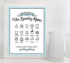 Laundry Room Art Decor by Guide To Procedures The Laundry Room Print Laundry