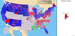 World Map 1980 National Presidential Primary County And State Maps 1912 2016