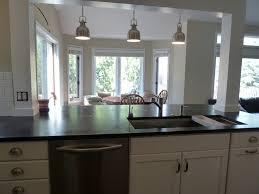 Big Kitchen Islands Modern Home Interior Design Incorporate A Support Post Into