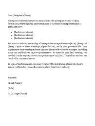 12 employment termination letter templates free sample example