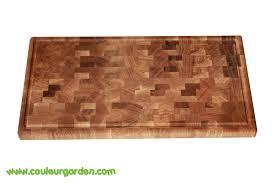 planche de cuisine billot de cuisine en bois avec planche à découper couleur garden