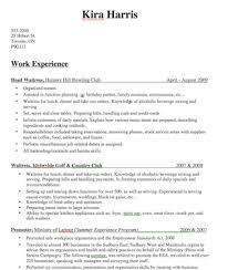 Bartender Job Description For Resume by Resume Examples For Bartender