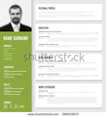 Resume Template Design Resume Template Stock Images Royalty Free Images U0026 Vectors
