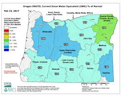 Eastern Oregon Map by Drought Concerns Ease With Improving Snowpack