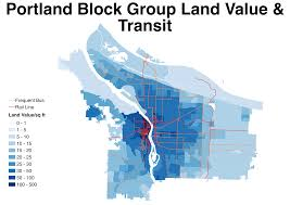 Portland Neighborhood Map Poster by Portland Land Value And Transit