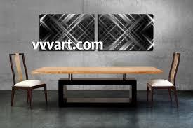 2 piece grey canvas abstract wall decor