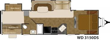 Fleetwood Wilderness Travel Trailer Floor Plans 2016 Heartland Wilderness 3150ds Travel Trailer Tulsa Ok Rv For