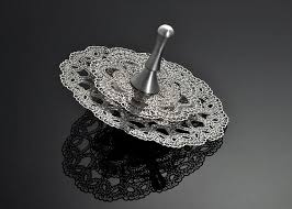 metal dreidel hanukkah