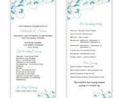 tea length wedding program tea length program etsy