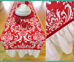 how to make table runner at home ruffled end table runner for the holidays or any day sew4home