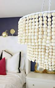 How To Make A Beaded Chandelier Diy Wooden Bead Chandelier U2013 A Beautiful Mess