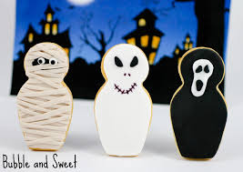bubble and sweet babushka ghost halloween cookies