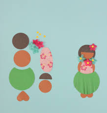 luau party craft paper hula doll mirabelle creations