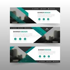 layout banner design green abstract triangle corporate business banner template