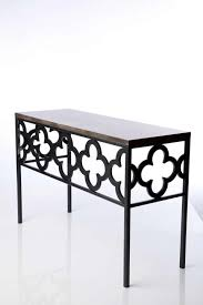 custom metal home furniture design of quatrefoil console table by
